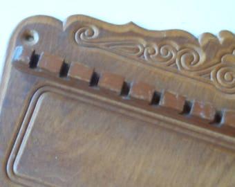 Vintage 64 Count Wood Souvenir Spoon Holder Spoon Display