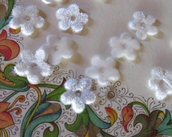 24 Velvet Forget Me Not Flowers Millinery Flower Making Or Scrapbooking White