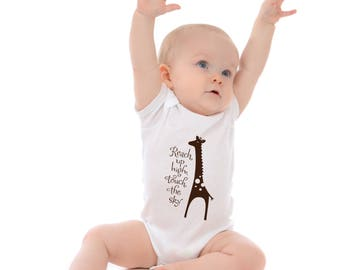 Baby t- shirt - Reach Up High with Giraffe