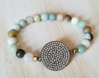 amazonite bracelet, beaded bracelets for women, boho jewelry, mothers day gift mom gifts from daughter, yoga bracelet, best selling items