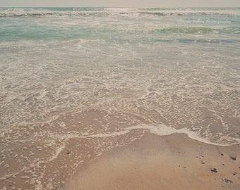 large beach wall print, beach photography, San Diego photo, coastal decor, summer print, baby nursery decor, girls room decor, ocean waves