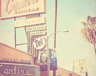 SALE Canters Deli photograph, Los Angeles photography, LA food, travel print, pastel blue decor, California gift, Hollywood, kitchen print