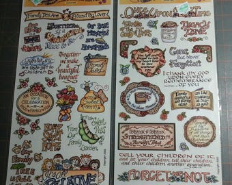 Destash lot of Flavia Sandy Clough and Crafty Secrets Heartwarming Expressions stickers border words Unused