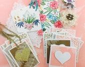 May Mini Heart Mail Bundle Lace Gold Peach