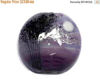 ON SALE 35% OFF New! 11839502 African Violet Moonlight Lentil Focal Bead - Handmade Glass Lampwork Bead
