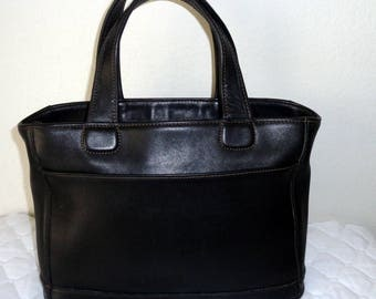 Authentic Coach USA Bleeker tote, satchel, purse,  midnight black top zip tote, Coach mod 9303 pristine condition