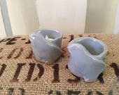Bird Votive Ceramic Candleholders- Set of 2