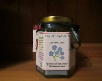 Posy Of Forget Me Not Scented Soy Wax Candle 300g
