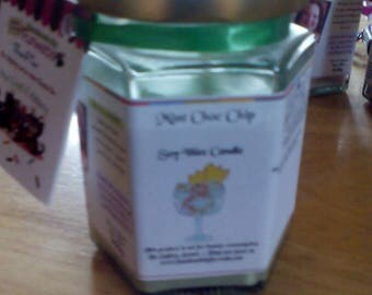 Mint Choc Chip Scented Soy Wax Candle 300g