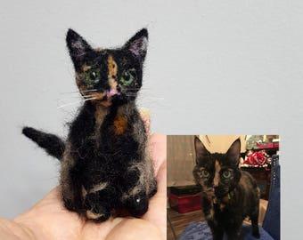 Custom needle felted cat ornament, Custom cat portrait, Cat memorial, Cat lover gift