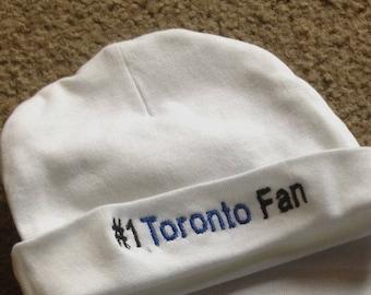 Toronto Maple Leafs Hockey Team Baby Infant Newborn  Hat Embroidered