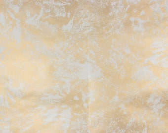 1970s Vintage Wallpaper White Swirl on Gold Metallic Contact Paper Peel and Stick by the Yard