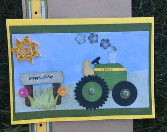 """Happy Birthday Blank Verse Greeting Card with Matching Envelope, Birthday Card, Man Birthday Card, Happy Birthday Deere, 5""""x7"""" Birthday Card"""