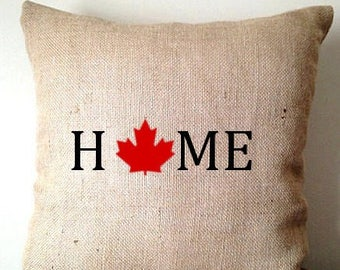 Canadian flag pillow Etsy
