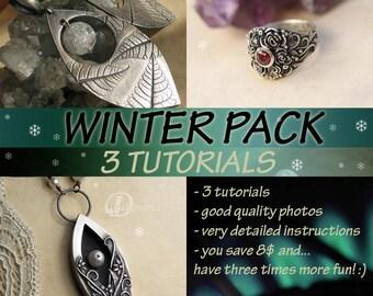3 TUTORIALS,  VALUE Pack ,metal clay, metal clay tutorial, art clay, pmc, jewelry tutorial, art clay tutorial, silver jewelry tutorial
