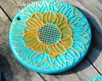 Handmade Pottery Bead For a Pendant