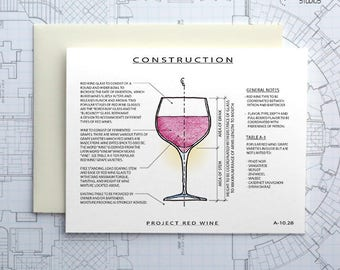 Project Red Wine - Instant Download Printable Art - Construction Series