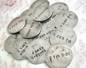 RESERVED for Amy .. custom smashed nickel with front & back stamping
