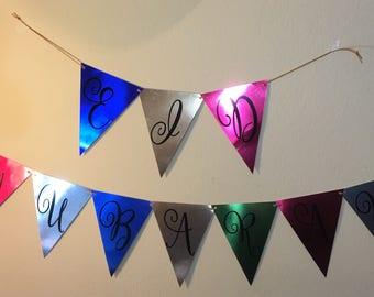 Ramadan Mubarak, Eid Mubarak banner, metallic poster board, ramadan decoration, Eid decoration