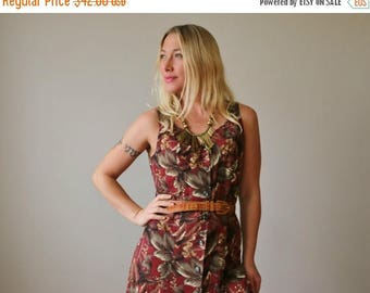 ON SALE 1980s Forest Panel Dress >>> Size Extra Small to Small