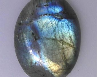 Multi color flash Labradorite oval cabochon, 55.79 carats, 33.4x25mm                         043-10-239