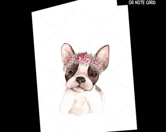Dog Card-Chihuahua Greeting Card-Note Card