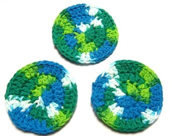 Cotton Facial Scrubbies, Makeup Remover Pads,  Bath & Beauty, Spa Accessories, London, Ontario, Canada, Gift for Her