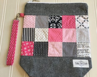 Pink Patchwork Project Bag