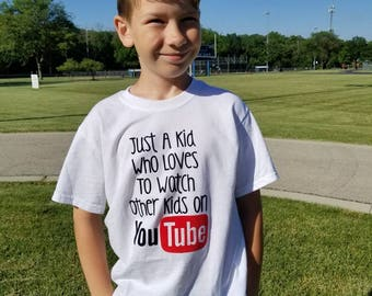 You tube kid tshirt