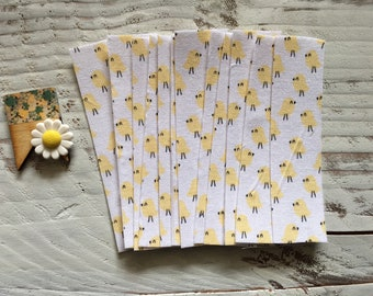 FABRIC tape: little chicks print--12 pieces