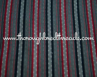 """Stunning Woven Stripe - Vintage Fabric  60s New Old Stock 37"""" wide Vertical"""
