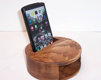 Smartphone Amplifier Handcrafted from Ash and Oak  Hardwood