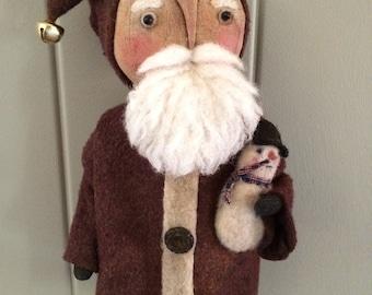 Primitive Santa Nick of the North Doll
