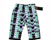 On SALE 75% OFF Chevron Pants - Girl Pants - Boy Pants - Girl - Baby Clothes - Baby Pants - Black Pants - Purple - Flannel Pants - 6m - 18m
