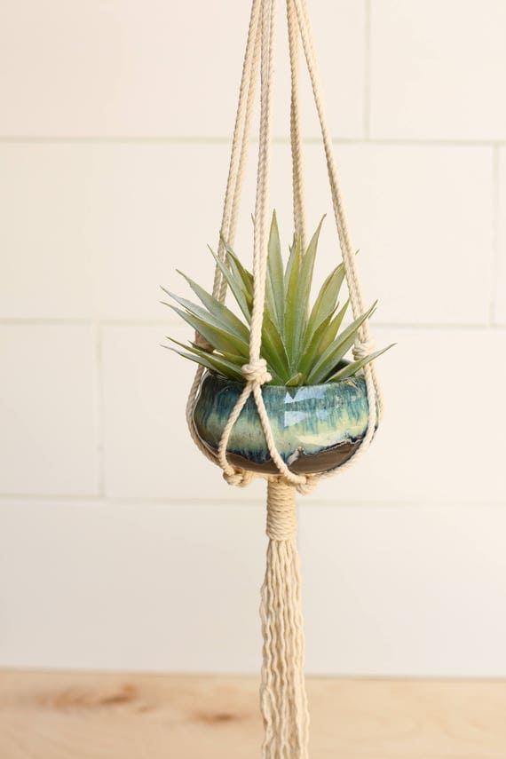 macrame planter WITH pot