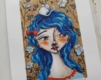 Livie and Jasper Hand embellished print