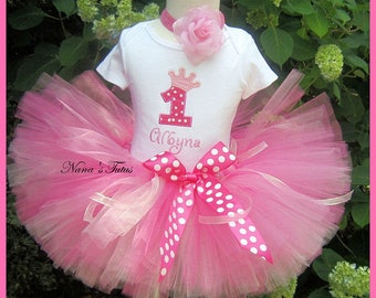 Princess Crown with Number, Party Outfit,Princess Party. Theme Party in Sizes 1yr thru 4yrs