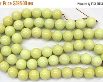 50% Mega Sale Lemon Magnesite Gemstone Beads (20mm)