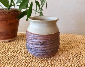 Purple Pottery Vase