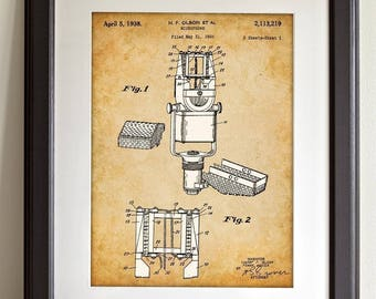 Microphone - 11x14 Unframed Patent Print - Great Gift for Musician or Singers