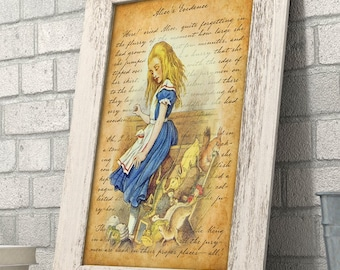 Alice in Wonderland - Alice's Evidence - 11x14 Unframed Alice in Wonderland Print