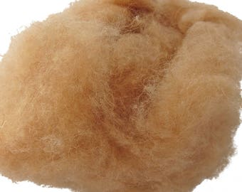 Camel down, dehaired, spinning fiber, 2 oz.