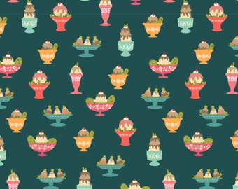 Ice Cream and Pickles Fabric - Cravings By Spottedpepperdesigns - Pickles Ice Cream Sundaes Cotton Fabric By The Yard With Spoonflower