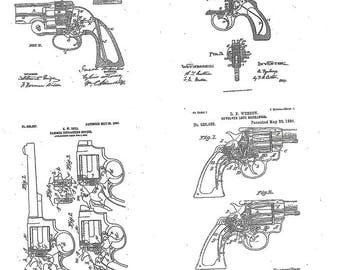 Gun Patent Art Print FREE U.S. SHIPPING
