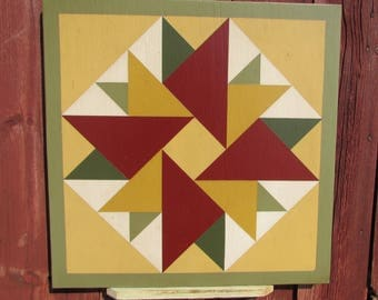 "PriMiTiVe Hand-Painted Barn Quilt - 18"" Unframed"