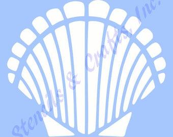 "6.5"" SHELL STENCIL SEASHELL sea ocean shells stencils beach template nautical marine templates craft pattern scrapbook paint new"
