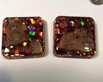 Glitter Bears magnet set