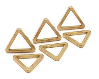 20mm Triangle Charm - 12 Raw Brass Triangles (19x2mm) D016