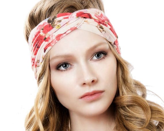 Turban Headband Women Turband Headwrap Hair Accessory Rose Headband Gift For Her Boho Chic Floral Headband Women's Gift Soft Headband Spring