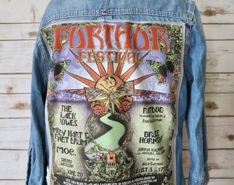 Grateful Dead Denim Grateful Dead Further Festival Bob Weir Ratdog Moe Button Up Shirt Top Womens Clothing Size Small